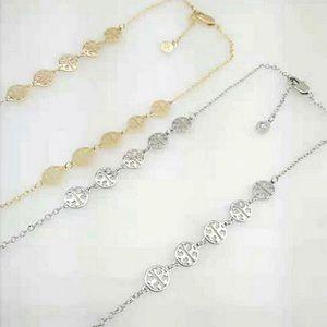 ❗️Last 1❗️New Tory Burch Silvertone logo necklace